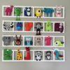 decoration murale chambre enfant animaux multicolores bichat004