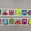 cadre mural deco chambre enfant figurines tons peps et acidules