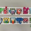 decoration murale chambre enfant figuines feutrie multicolores