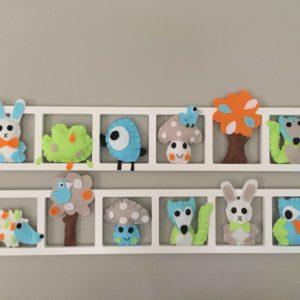decoraton chambre enfant animaux pastel
