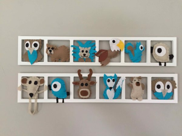 decoration chambre enfant theme far wst americain turquoise brun beige
