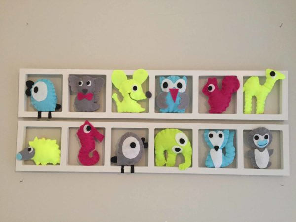 cadre mural deco chambre enfant couleurs flash