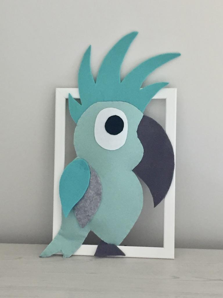 cadre deco parfait le perroquet vert d eau et gris gdbichat 009 bichat and friends. Black Bedroom Furniture Sets. Home Design Ideas