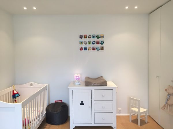 cadre decoratif chambre bebe oiseaux muticolores