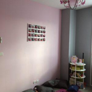 Décoration murale bébé fille rose beige taupe personnalisable