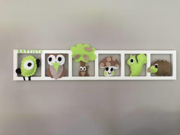 Elegant Decoration Chambre Enfant Personnalisée Beige Taupe Vert