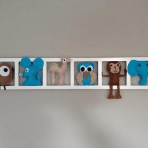Decoration chambre enfant personnalisée -bleu beige brun