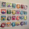 Decoration chambre enfant personnalisée -hiboux oiseaux multicolores