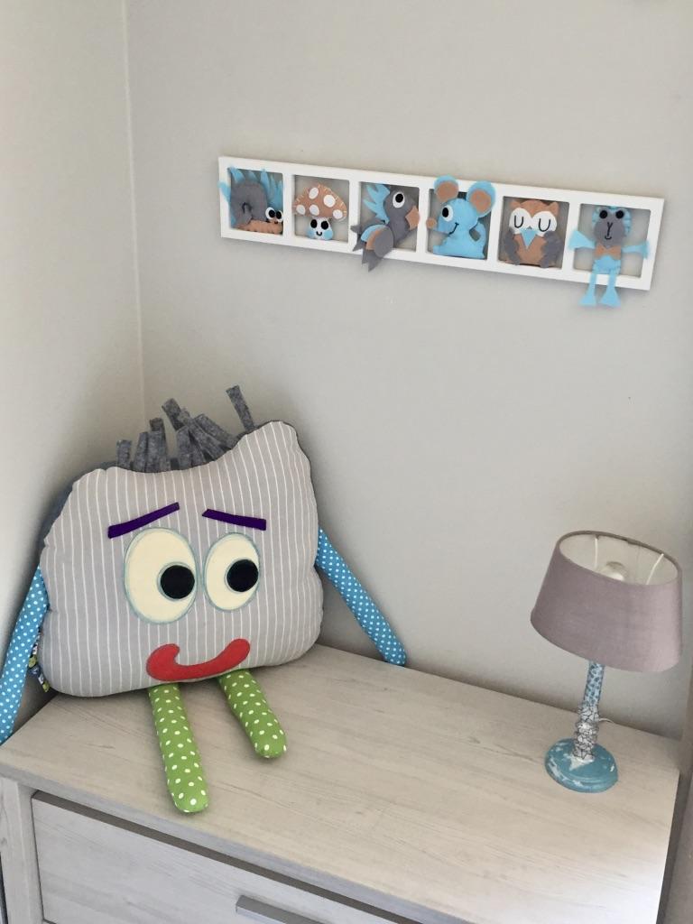 decoration chambre bebe, cadeau de naissance,turquoise, gris