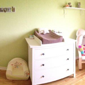 decoration chambre bebe, gris et beige, cadeau de naissance original