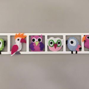 Decoration murale chambre enfant oiseaux tropicaux