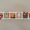 Décoration murale chambre enfant brun orange. Cadeau de naissance personnalisé.