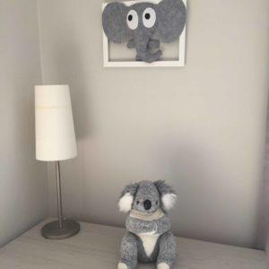 cadre deco chambre éléphant gris