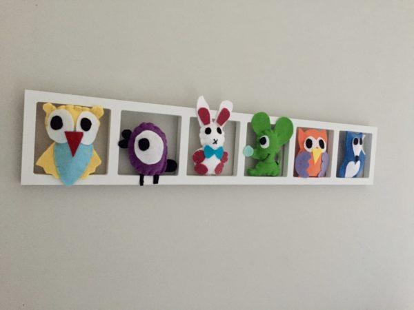 Decoration murale chambre enfant figurines colorées