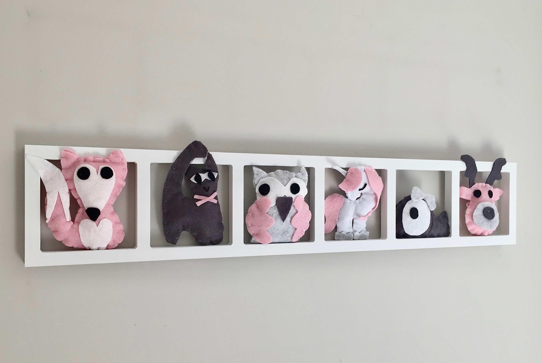 Deco Chambre Bebe Fille deco murale «unicorn», tons rose et gris, bichat 207