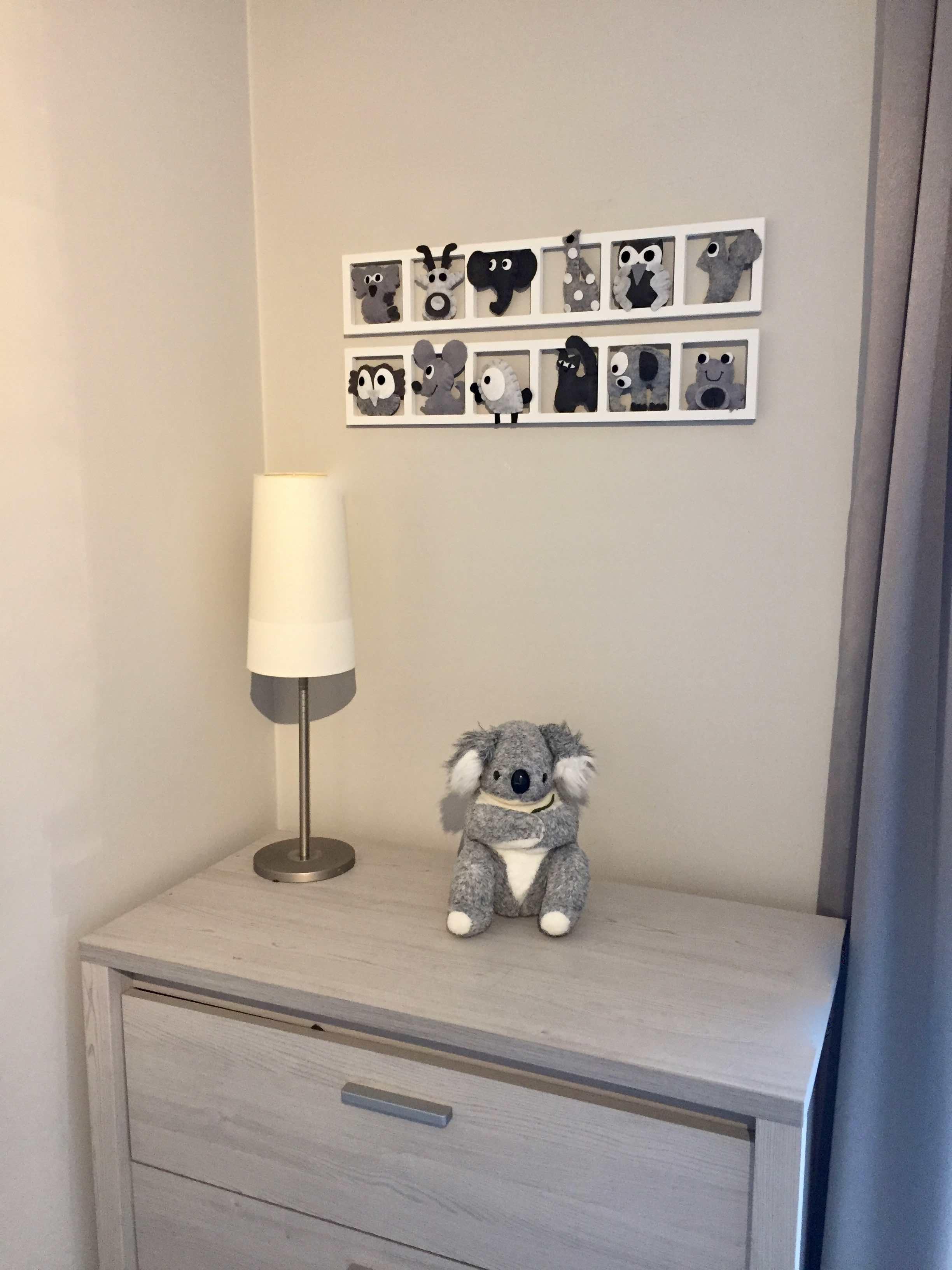 DECO CHAMBRE ENFANT « Black&White », blanc et gris, BICHAT 19