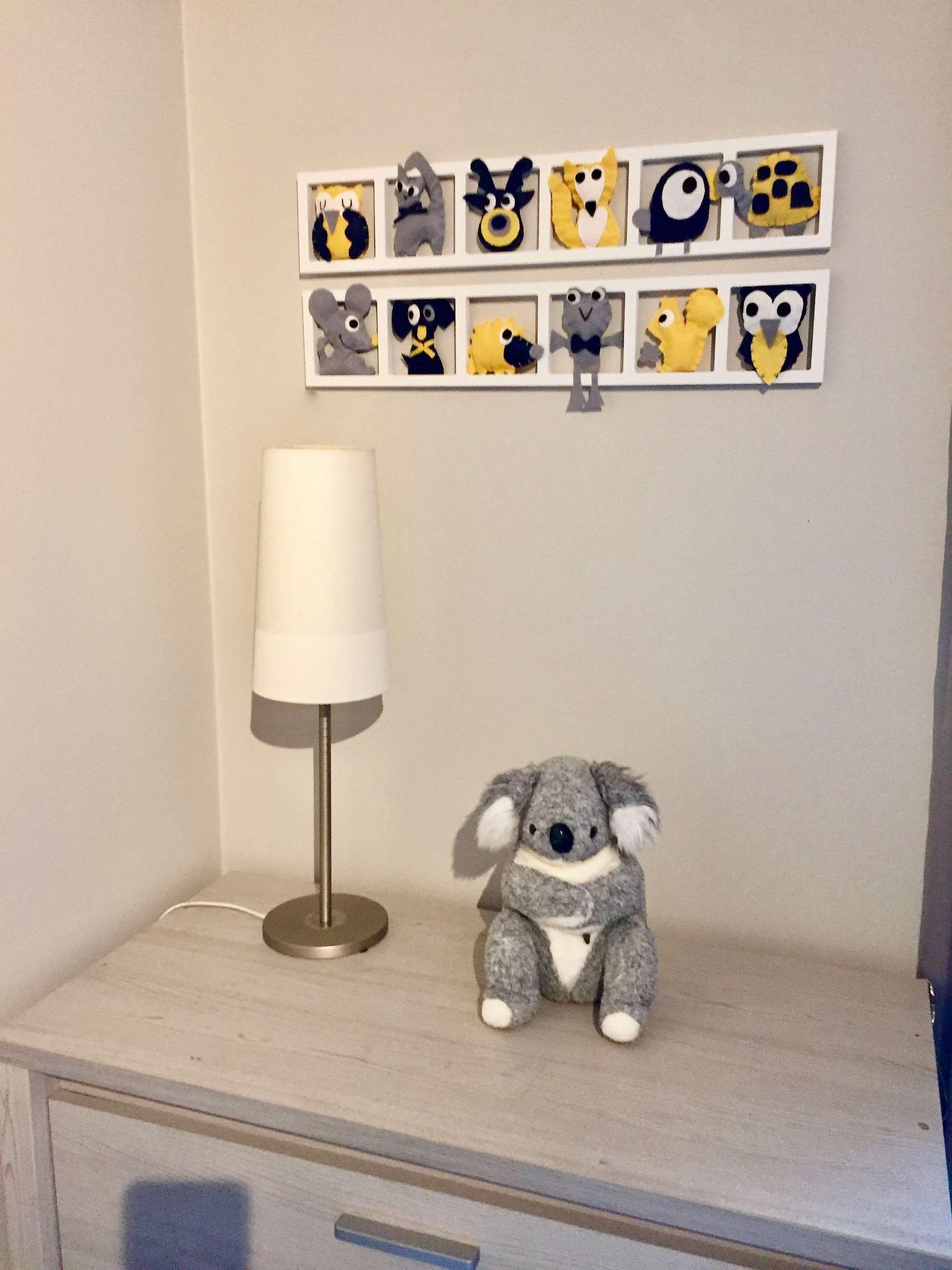 Deco Chambre Jaune Et Gris deco chambre enfant « moustach »,jaune moutarde, gris, bleu bichat 209