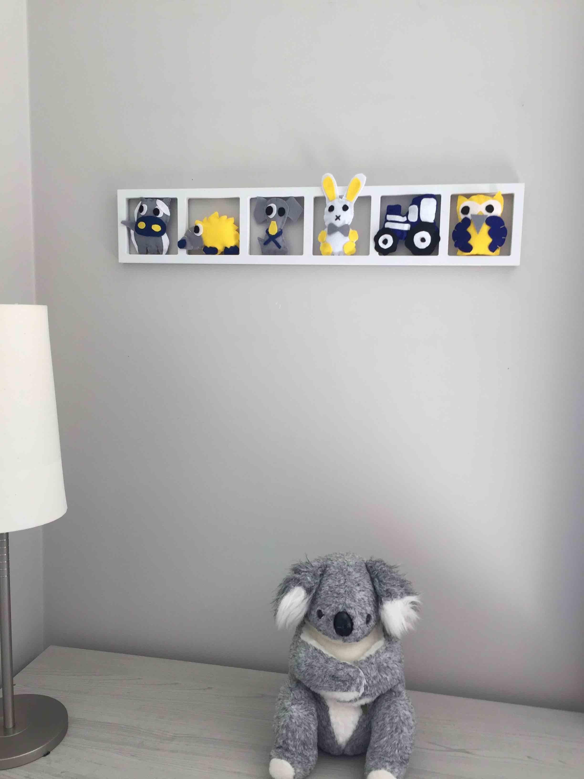 Deco Chambre Jaune Et Gris deco murale chambre enfant« a la campagne»,gris jaune bleu, bichat 213