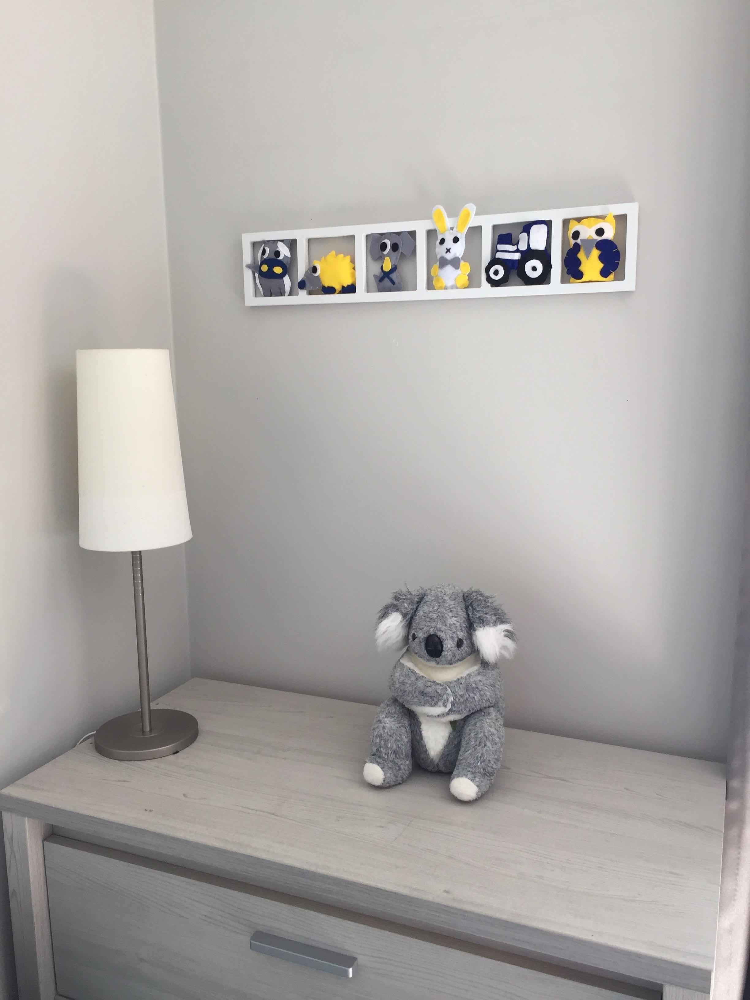 Deco Chambre Fille Fushia Et Gris deco murale chambre enfant« a la campagne»,gris jaune bleu, bichat 213